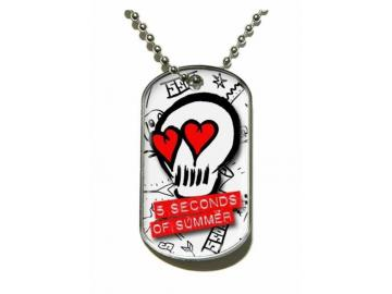 Merchandise Dog Tag '5 Seconds of Summer - Skull'