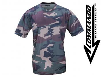 Tactical Funktions T-Shirt 'QuickDry', woodland