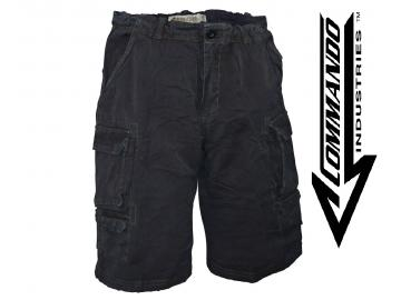Cargo Shorts 'Vintage Big Game', schwarz
