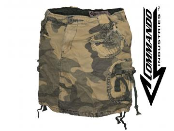 Minirock 'Vintage Black Out', camouflage