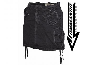 Minirock 'Vintage Black Out', schwarz