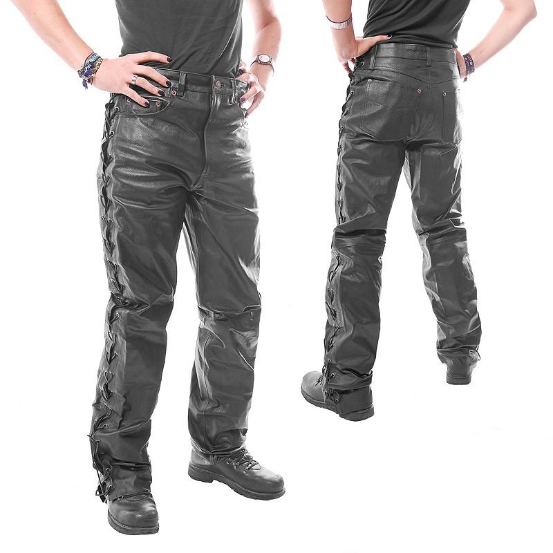 lederhose schn rhose im jeansschnitt schwarz. Black Bedroom Furniture Sets. Home Design Ideas