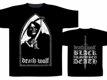T-Shirt 'Death Wolf - Black Armoured Death', 100% Baumwolle